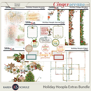 Holiday Hoopla Extras Bundle by Karen Schulz