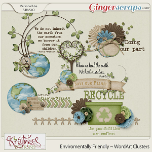 Environmentally Friendly WordArt Clusters