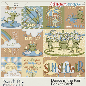 Dance in the Rain Pocket Cards