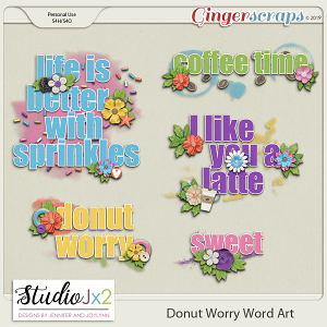 Donut Worry Word Art