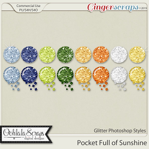 Pocket Full Of Sunshine Glitter CU Photoshop Styles