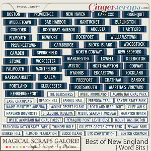 Best of New England (word bits)