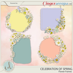 Celebration Of Spring Flower Frames by Ilonka's Designs