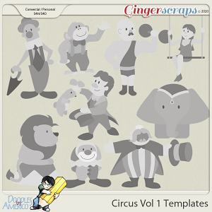 Doodles By Americo: Circus Vol 1 Templates