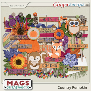 Country Pumpkin ELEMENTS by MagsGraphics