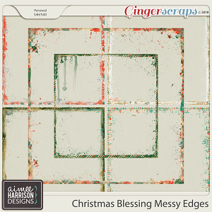 Christmas Blessing Messy Edges by Aimee Harrison