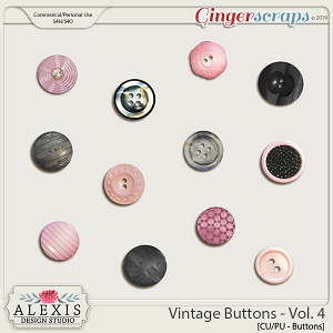 Vintage Buttons Vol. 4 - CU by Alexis Design Studio