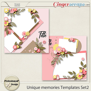 Unique memories Templates Set2