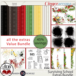 Surviving School Extras Bundle by Karen Schulz and ADB Designs