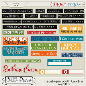 Travelogue South Carolina - Word Bits