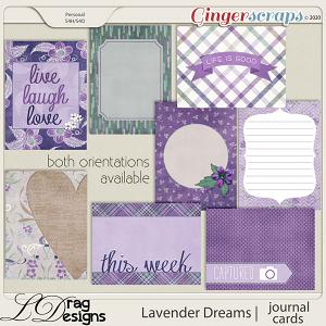 Lavender Dreams: Journal Cards by LDragDesigns