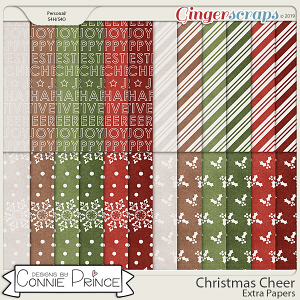 Christmas Cheer - Extra Papers by Connie Prince