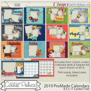 2019 8.5 x 11 PreMade Calendars