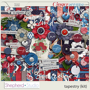 Tapestry Digital Scrapbooking Kit by Shepherd Studio