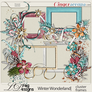 Winter Wonderland: Cluster Frames by LDragDesigns
