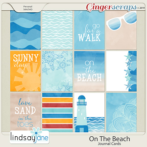 On The Beach Journal Cards by Lindsay Jane