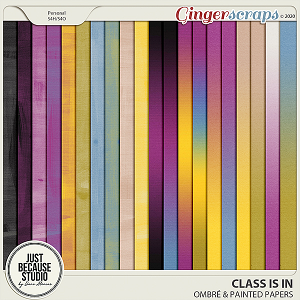 Class Is In Ombré & Painted Papers by JB Studio