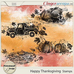 Happy Thanksgiving Stamps