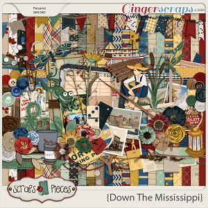 Down the Mississippi Bundle by Scraps N Pieces