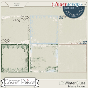 Life Chronicled: Winter Blues - Page Edges by Connie Prince