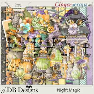 Night Magic Page Kit by ADB Designs