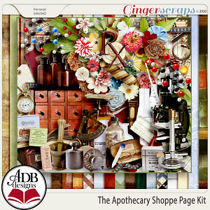 The Apothecary Shoppe Page Kit by ADB Designs