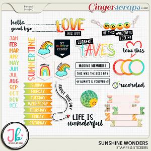 Sunshine Wonders Stamps & Stickers by JB Studio