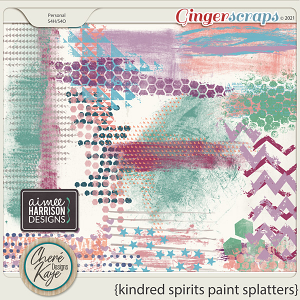 Kindred Spirits Paint Splatters by Chere Kaye Designs and Aimee Harrison