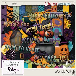 Wendy Witch Kit by Scrapbookcrazy Creations