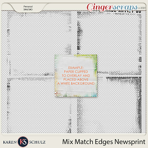 Mix Match Edges Newsprint by Karen Schulz