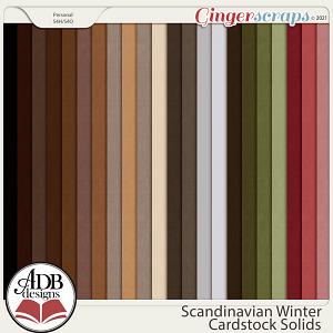 Scandinavian Winter Solid Papers by ADB Designs