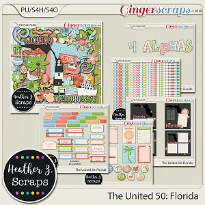 The United 50: Florida BUNDLE by Heather Z Scraps