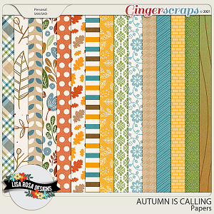 Autumn is Calling - Papers by Lisa Rosa Designs