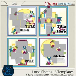 Lotsa Photos 13 Templates by Miss Fish