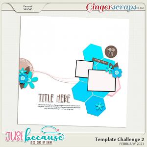 February 2021 Template Challenge 2 by JB Studio