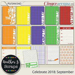 Celebrate 2018: September JOURNAL CARDS by Heather Z Scraps
