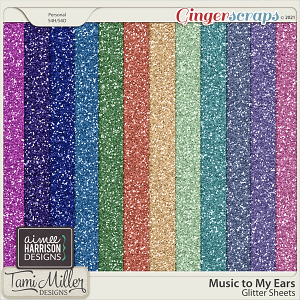 Music to My Ears Glitter Sheets by Tami Miller Designs and Aimee Harrison