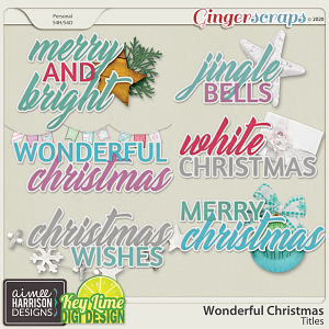 Wonderful Christmas Titles by Aimee Harrison and Key Lime Digi Design