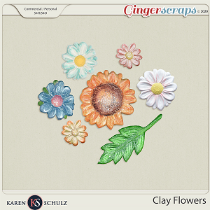 Clay Flowers by Karen Schulz