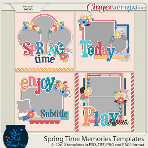 Spring Time Memories Templates by Miss Fish