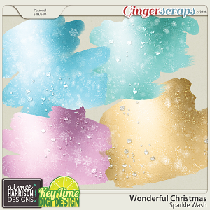 Wonderful Christmas Sparkle Washes by Aimee Harrison and Key Lime Digi Design