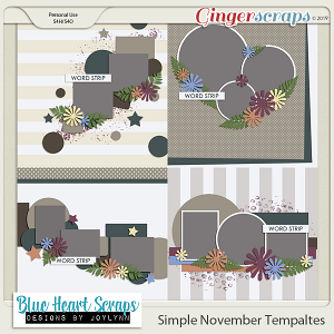 Simple November Template Pack