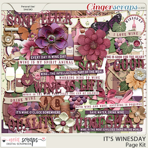 It's Winesday - Page Kit - by Neia Scraps