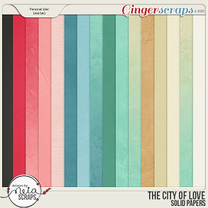 On Location: The City of Love - Solid Papers - by Neia Scraps