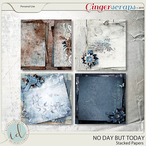 No Day But Today Stacked Papers by Ilonka's Designs