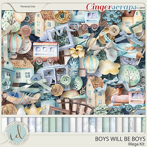 Boys Will Be Boys Mega Kit by Ilonka's Designs