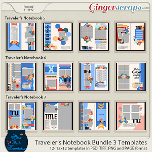 Travelers Notebook Bundle 3 by Miss Fish