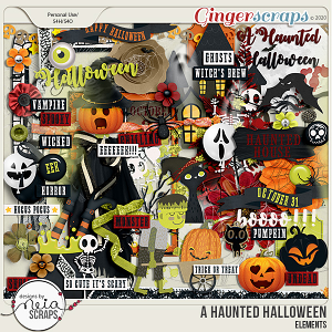 A Haunted Halloween - Elements - by Neia Scraps