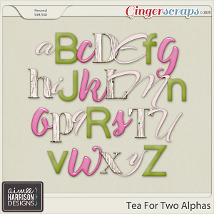 Tea for Two Alpha Sets by Aimee Harrison
