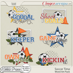 Soccer Time - WordArt Pack